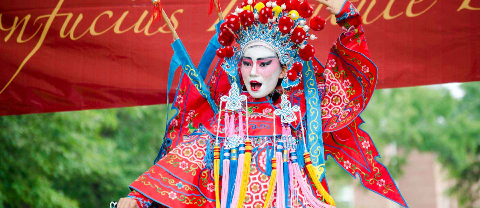 Confucius Day dancer dressed in costume